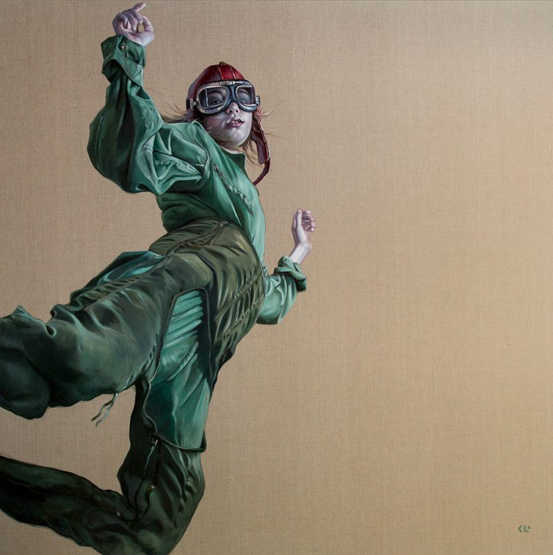 Catch Me If I Fall, oil on linen, 180x180cm, SOLD
