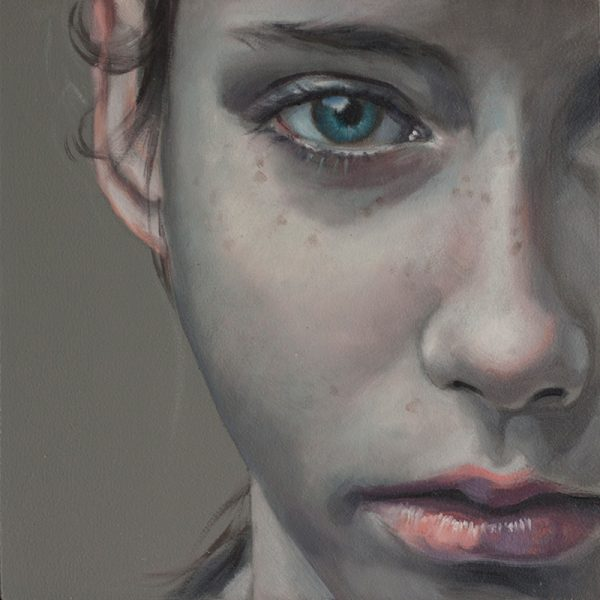 Study 20cm, oil on board, SOLD