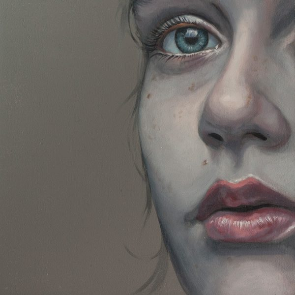 Study 25cm, oil on board, SOLD