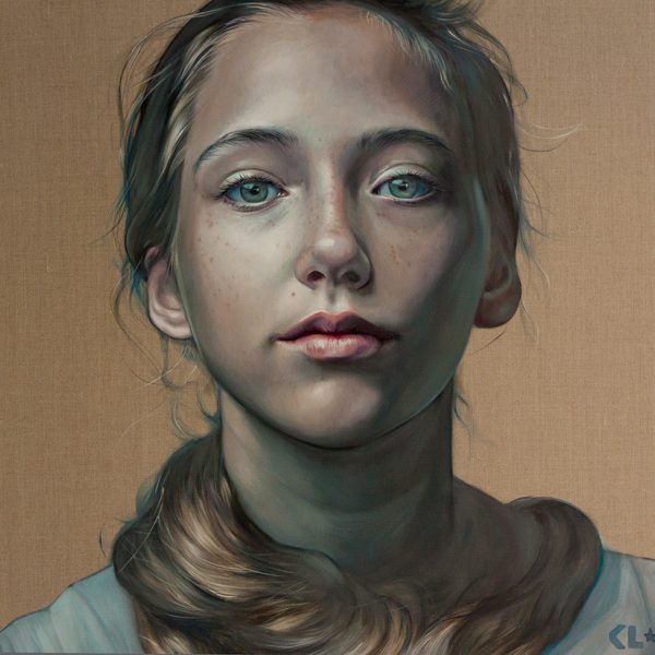 Maia at 12 1/2, oil on linen, 1mx1m, SOLD