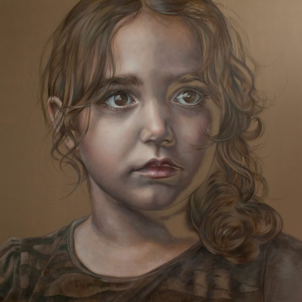 The Little Doll, 180x180cm, oil on canvas SOLD