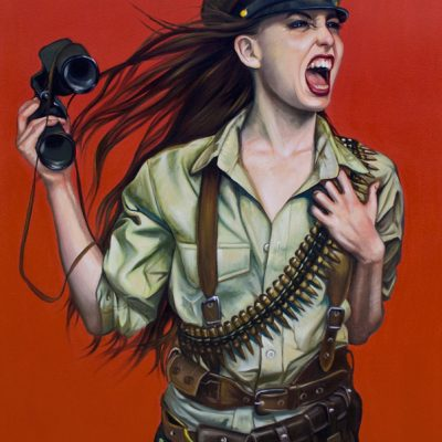 Battle Girl, oil on Canvas, 92x122cm