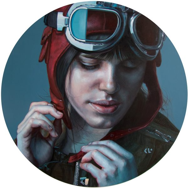 2019, oil on wood panel, 50cm diameter, available from Flinders Lane Gallery