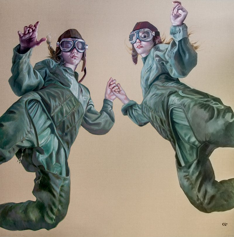Come Fly With Me, oil on linen, 180x180cm
