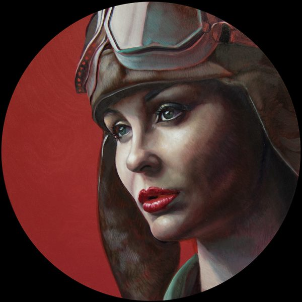 oil on panel, 50cm diameter SOLD
