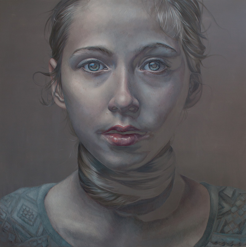 The Suffocating Feeling of Blending in, 180x180cm, oil on canvas SOLD