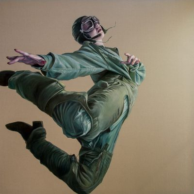 Dance me to the Edge of Reason, oil on linen, 180x180cm, SOLD