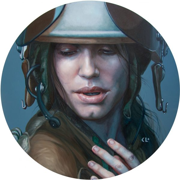 2019, oil on wood panel, 50cm diameter, available from Flinders Lane Gallery