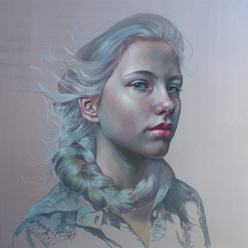 Carried Away , 2018, oil on linen, 150x150cm