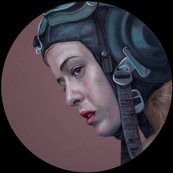 oil on panel, 50cm diameter, SOLD
