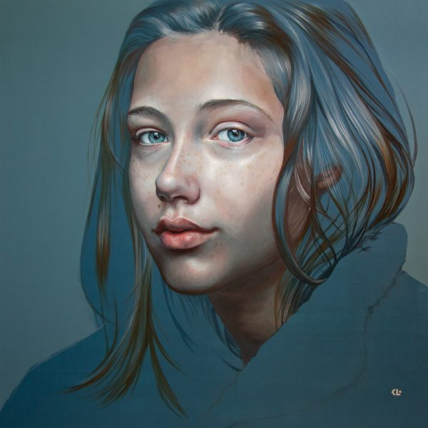 oil on linen, 182x182cm, available from Gallery One